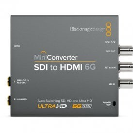 BMD-CONVMBSH4K6G Convert SDI in SD, HD and Ultra HD to HDMI 4K with analogue and AES audio