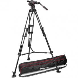 Fluid Video Head with 546GB Twin Leg, Middle Spreader Tripod