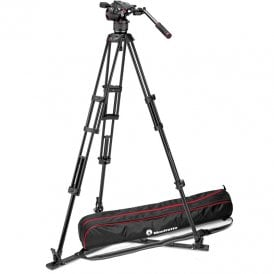 Fluid Video Head with 546GB Twin Leg, Ground Spreader Tripod