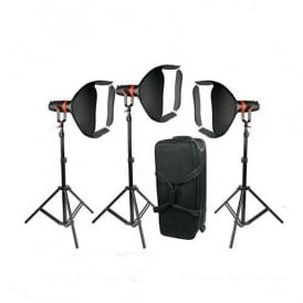 F-55W-3PACK 3 Pcs Boltzen 55w Fresnel Focusable LED Daylight Package
