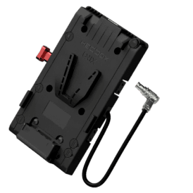 V-Mount Battery Plate with 3x D-Tap 1x USB 1x 50cm 2-pin FGG.0B.302 cable (RA)