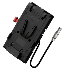 V-Mount Battery Plate with 3x D-Tap 1x USB 1x 50cm 4-pin FGK.1B.304 cable