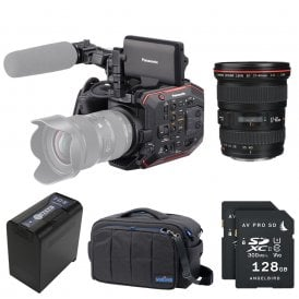 AU-EVA1 Compact 5.7K Super 35mm Cinema Camera package E
