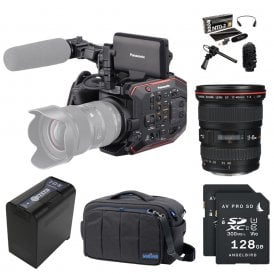 AU-EVA1 Compact 5.7K Super 35mm Cinema Camera package F