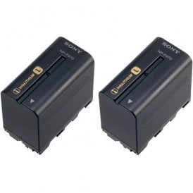 NP-F970 L-series Info-Lithium Battery 2 Pack (7.2v, 6300mAh)