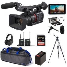 Lightweight 4K/HDR 10BIT REC Camera Recorder with Live Streaming package f