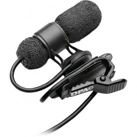 d:screet 4080 Cardioid Mic, Normal SPL, Black, 3-pin LEMO