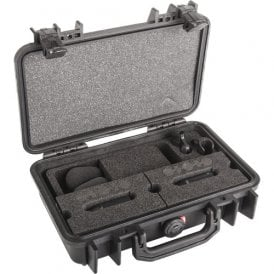 d:dicate 4007C Stereo Pair with Clips and Windscreens in Peli Case