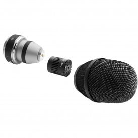 d:facto 4018VL Linear Supercardioid Mic, SL1 Adapter (Shure/Sony/Lectrosonics/Line6), Black